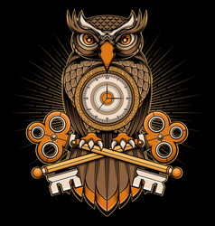 owl time vector image