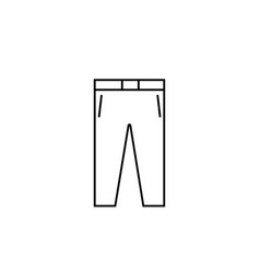 pants icon vector image