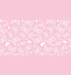 Pastel pink butterflies repeat seamless vector