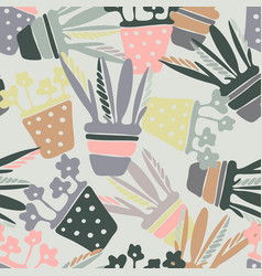 pattern with elements of cozy garden vector image