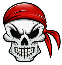 pirate skull isolated design vector image