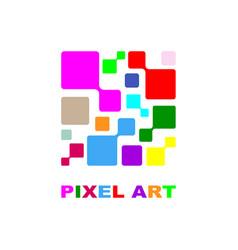 pixel logo design concept vector image