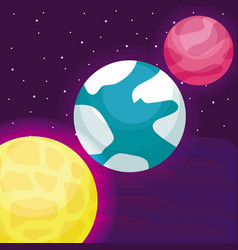 planets space universe icon vector image