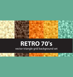 Retro pattern set seamless vintage backgrounds vector