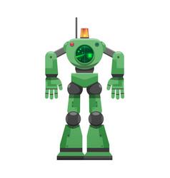 Robot with alarm signal and big radar vector