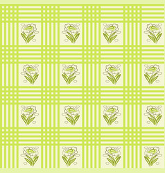 Seamless cloth stripes flowers pattern vector