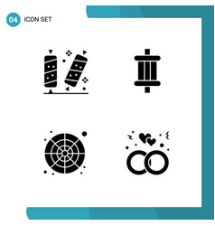 Set 4 modern ui icons symbols signs for candy vector
