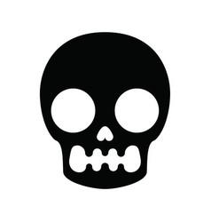 Skull pattern in minimalism style vector