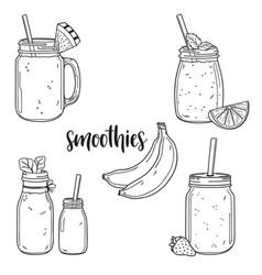 smoothie collection vector image