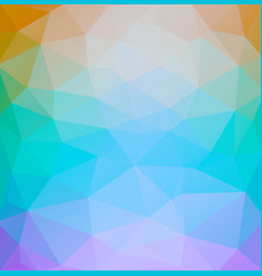 square retro color abstract triangle background vector image