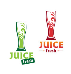 symbol abstract red and green juice vector image