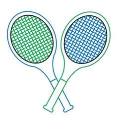 Tennis racquets crossed icon image vector