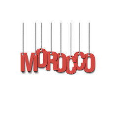 The word morocco hang on the ropes vector
