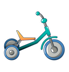 Tricycle icon cartoon style vector
