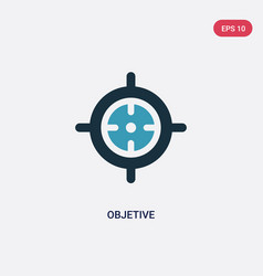Two color objetive icon from weapons concept vector