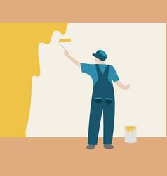 wall painter vector image