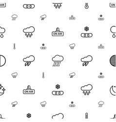 Weather icons pattern seamless white background vector