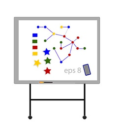 White board with magnets vector image