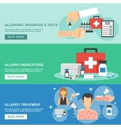 Allergy Banner Set vector image