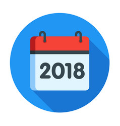calendar for 2018 year icon vector image vector image
