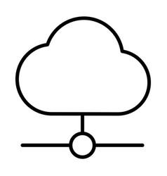 cloud technology line icon minimal pictogram vector image