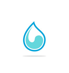 curl wave water drop logo vector image