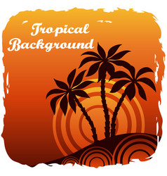 exotic landscape with palm vector image