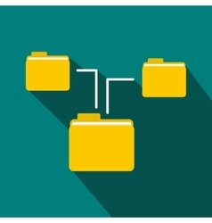 Folders structure icon flat style vector image