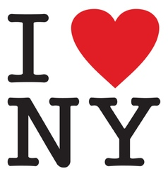 i love new york vector image