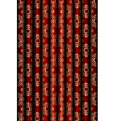 Red and gold material background vector image vector image