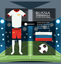 Soccer world cup russia design vector