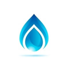 Abstract blue water drop vector image vector image