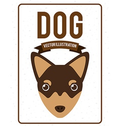 dog design vector image