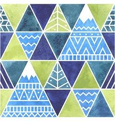 Far Beyond Mountains - seamless pattern vector image