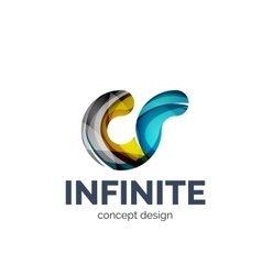 Infinite logo business branding icon vector image