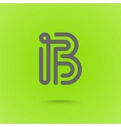 Letter B Graphic Logo Element vector image vector image