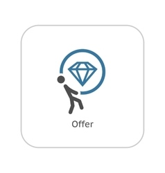 Offer Icon Flat Design vector image vector image