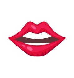 Woman lips isolated vector image