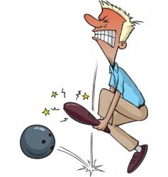 bowling injury vector image