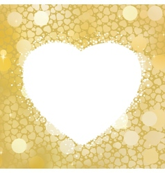Golden Heart bokeh frame with copy space EPS 8 vector image