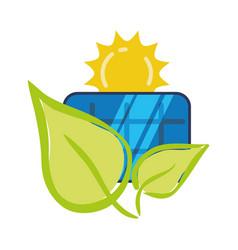 solar panel ecology environment concept vector image vector image