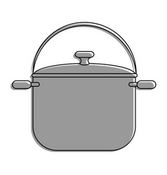 steel cooking pot vector image