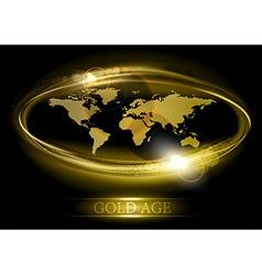 world abstract shine gold vector image vector image