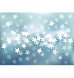 Blue festive lights in star shape background vector image