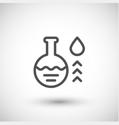 chemical flask line icon vector image
