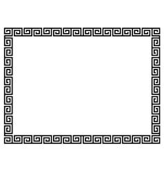 Greek style black ornamental decorative frame vector image vector image