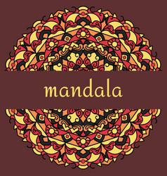 mandala on maroon vector image