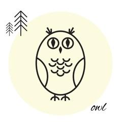 owl thin line icon vector image