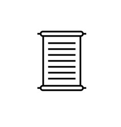 papyrus scroll icon vector image