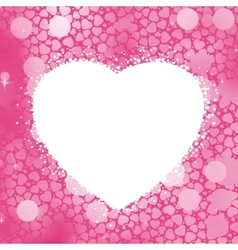 Pastel Heart bokeh frame with copy space EPS 8 vector image vector image